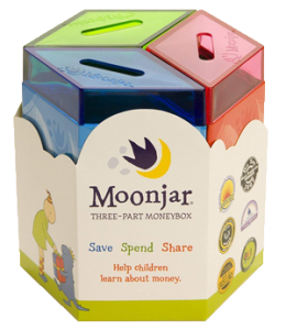 Moonjar for teaching children about finances