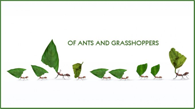 Of Ants and Grasshoppers